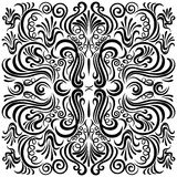 Design pattern with swirling floral decorative orn Royalty Free Stock Photos