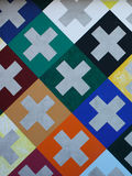 The design pattern of the Swiss cross. The design pattern of the Swiss cross Stock Photography