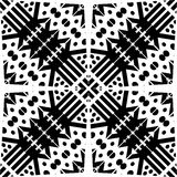 Design pattern white vector black geometric zebra decorative carpet culture Royalty Free Stock Images