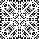 Design pattern white vector black geometric zebra decorative carpet culture Royalty Free Stock Photography