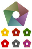 Design pentagonal logo element. Stock Image