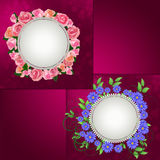 Design photo frames with flowers . Stock Photography