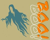 Horror ghosts that are haunting are very scary royalty free illustration