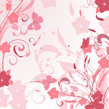 Design pink floral sprays Stock Photo