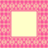 Design Pink Ornament Cover Stock Photography