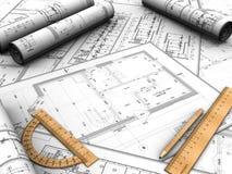 Design plan Stock Photography