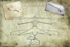 Design of a plane Royalty Free Stock Image