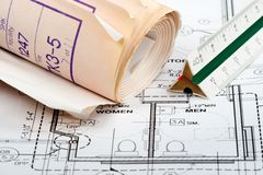 Design Plans royalty free stock photo