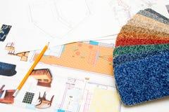 Design plans Stock Photos