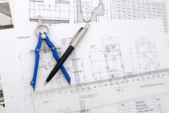 Design plans Royalty Free Stock Image