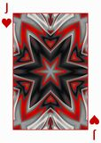 Back Design of Playing Card with abstract colorful russian star. Design of Playing Card with abstract colorful russian star vector illustration