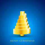 Design of postcard with abstract golden New Year t Stock Photo
