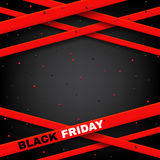 Design of poster of Black Friday sale vector illustration. Royalty Free Stock Photos