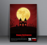 Design a poster flyers, cover for Halloween Stock Photography