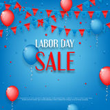 Design of poster of Labor Day sale Stock Photo