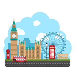Design Poster for Travel of England. Urban Background Royalty Free Stock Photos