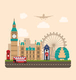 Design Poster for Travel of England. Urban Background Stock Images