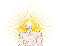Powerful god draw. Design of powerful god draw Royalty Free Stock Images