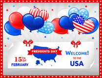Design for PRESIDENTS DAY in the USA Stock Images