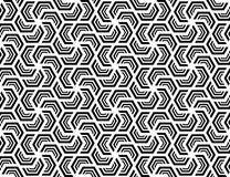 Seamless hexagonal pattern . Design black on white Royalty Free Stock Photo