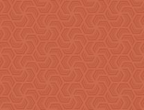 Seamless hexagonal pattern . Design light red on red Stock Photo