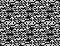 Seamless hexagonal pattern . Design white on black Royalty Free Stock Image