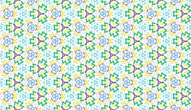 Design for printing on fabric, textile, paper, wrapper, scrapbooking. Authentic geometric background in repeat. Design for printing on fabric, textile, paper royalty free illustration
