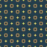 Design for printing on fabric, textile, paper, wrapper, scrapbooking. Traditional tile ornament in ethnic style. Seamless pattern. Authentic geometric Royalty Free Stock Image