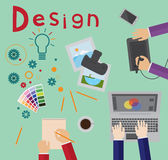 Design process royalty free illustration