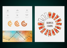 Design of progress bar, loading creativity. Vector Royalty Free Stock Photos