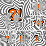 Design punctuation marks set. Question and exclama Stock Photos