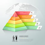 Design pyramid infographic template. Business concept infographic Stock Image
