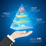Design pyramid infographic template. Business concept infographic Royalty Free Stock Photography