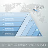 Design pyramid infographic template. Business concept infographic Royalty Free Stock Images