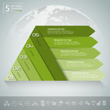 Design pyramid infographic template. Business concept infographic Royalty Free Stock Photos