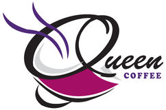 Design Queen Coffee Logo Stock Photo