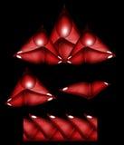 Design - röda vinkelformiga beståndsdelar och gräns Fotografering för Bildbyråer