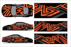 Car design. Exterior car design and elements royalty free illustration