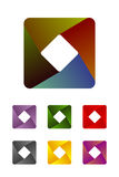 Design rectangle logo element. Royalty Free Stock Image