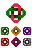 Design rectangle logo element. Royalty Free Stock Photos