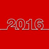 2016 design. On red background Vector Illustration