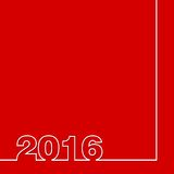 2016 design. On red background Royalty Free Illustration