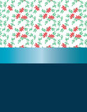 Design red flowers and blue ribbon. Royalty Free Stock Photography