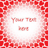 Design red heart perspective background for text.  Royalty Free Stock Images
