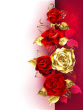 Design with red roses Stock Image