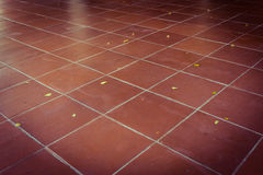 Design of red tiles flooring Royalty Free Stock Images
