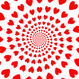 Design red whirl heart backdrop. Valentines Day ba Royalty Free Stock Images