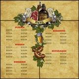 Design restaurant menu Stock Images