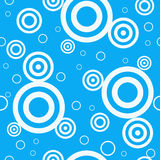 Design Retro Blue Seamless Pattern Stock Photography