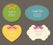 Design Retro Label, Frame, with Bow Vector Stock Photo